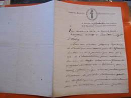 Les Administrateurs Du District De Joinville Aux Citoyens Oudotte Et Girardeau De Wassy Le 15 Vendémiaire - L'AN 2 - Documents