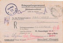 Stalag VI A, VI G Bonn A. Rhein Rayé Via Lyon Laz Hemer - 2. Weltkrieg 1939-1945