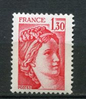 9660  FRANCE  N°2059b  ** (n° Yvert)  1F30 Rouge Sabine  Gomme Tropicale   1979  TTB - 1977-81 Sabine De Gandon