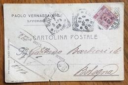 LIVORNO PAOLO VERNASSA & C.  CARTOLINA PUBBLICITARIA AUTOGRAFA - Documenti Storici