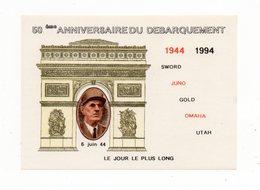 !!! PRIX FIXE : BLOC DE GAULLE, 50E ANNIVERSAIRE DU DEBARQUEMENT NEUF ** - Erinnophilie