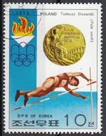 DPR Korea 1976 Sc. 1493 XXI Olimpiade Montreal Medaglie D ' Oro Salto Con L ' Asta Tadeusz Slusarski Gold Winners - Jumping