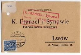 Poland Ukraine Lvov Lwow Zborow Adverisement 1931 - 1919-1939 Republik