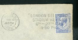 "GRANDE BRETAGNE - N° Yt 163 Obl. SUR LETTRE DE LONDON DE 1925 I + FLAMME ""LONDON DEPENDED STADIUM WENBLEY"" - 1902-1951 (Kings)"