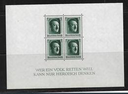 DSP132 / DRITTES REICH -.  Block 7, Hitlers Geburtstag 1937 ** - Deutschland