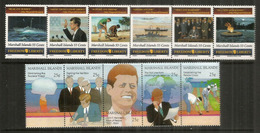 La Vie De John F.Kennedy. 11 Timbres Neufs ** Se-tenant Des îles Marshall. Océan Pacifique. Côte 18 Euro - Kennedy (John F.)