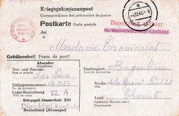 Stalag VI A Kriegsger. Glaser-Batt. XVI Dusseldorf Reisholz - Poststempel (Briefe)