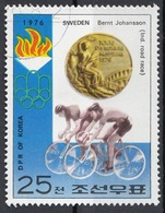DPR Korea 1976 Sc. 1495  XXI Olimpiade Montreal Medaglie D ' Oro Ciclismo Cycling Bernt Johansson Gold Winners - Estate 1976: Montreal