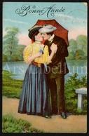 Postkaart / CPA / Postcard / 2 Scans / Couple / Romantique / Bonne Année / 1912 - Couples