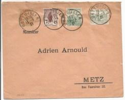 H690 - DETTWILLER - Mai 1921 - Timbres Blanc + Orphelins - Cachet Provisoire Sans Département - - Alsace Lorraine