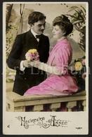 Postkaart / CPA / Postcard / 2 Scans / Couple / Romantique / Heureuse Année - Couples