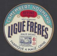 Etiquette De Fromage Camembert   -  Ligué Frères  Laiterie De Macé  (61) - Cheese