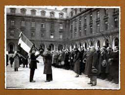 6 PHOTOS ANCIENS COMBATTANTS De La Société Générale Remise Du Drapeau 1935 - War, Military