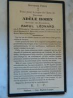 WILLERZIE +RIENNE:SOUVENIR DE DECE DE ADELE ROBIN EPOUSE RAOUL LEONARD 1860-1913 - Images Religieuses