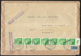 1948 - DEUTSCHLAND - Cover + Michel 80WG [Köln] & 2BBW [Steuermarke] + GROSSBIEBERAU - Zone Anglo-Américaine