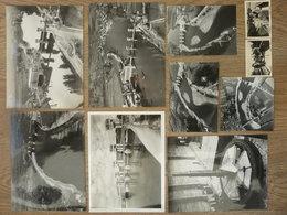 PHOTOS Professionnelles Du Chantier DU BARRAGE HYDROELECTRIQUE DE TEMPLE/LOT (dépt 47) En 1950 - Albums & Collections