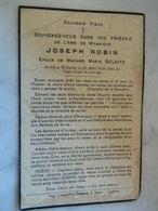 WILLERZIE :SOUVENIR DE DECE DE JOSEPH  ROBIN EPOUX MARIE DELAITE 1862-1935 - Devotieprenten
