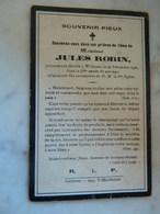 WILLERZIE :SOUVENIR DE DECE DE JULES   ROBIN 1856-1921 - Images Religieuses