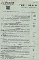 Doc Format A4 Tarifs Motobecane Cyclomoteurs Velosolex  01.03.1978 - France