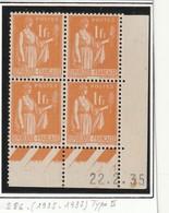 France Coin Daté Du Numero 286 Avec 2 Timbres** Et 2 Avec  Charniére - Coins Datés