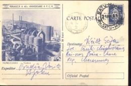 INDUSTRY, HUNEDOARA STEEL FACTORY PANORAMA, PC STATIONERY, ENTIER POSTAL, 1961, ROMANIA - Factories & Industries