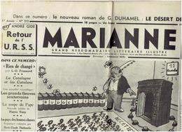 MARIANNE Du 11 Novembre 1936  Guerre D'Espagne - Journaux - Quotidiens
