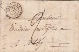 Lettre Cachet Graulhet Tarn 22/10/1841 Taxe Manuscrite Pour Albi - Marcophilie (Lettres)