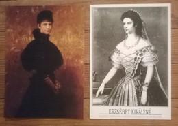 Lot De 2 Cartes Postales Erzsébet Kiralyne HUNGARY - Hommes Politiques & Militaires