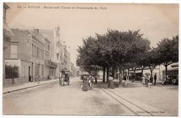 Royan : Boulevard Thiers Et Promenade Du Port (Collection Victor Billaud, N°24) - Royan