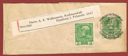 Alpenverein D O A V Streifband Ganzsache Entier  Wrapper  MÄRZ  1914 5H & ZuF - Postwaardestukken