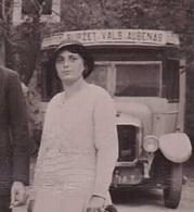 LE BURZET VALS AUBENAS Très RARE CARTE PHOTO Avec Autobus Ardèchois - Vals Les Bains