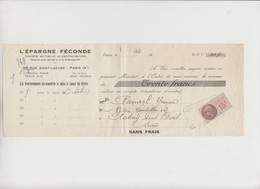 LETTRE DE CHANGE - 193? - TIMBRE FISCAL 15 C - Bank & Insurance