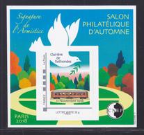 CNEP N° 79 NEUF ** MNH - SALON PARIS AUTOMNE 2018, Signature Armistice, Bloc Adhésif, TB - CNEP