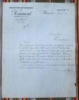 """51 REIMS """"GRANDS VINS DE CHAMPAGNE HAUMONT Pour 55 Varennes En Argonne - Factures"""