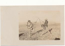 BASUTOLAND - Carte Photo - Herd Boys Playing - Enfants, Lutte Au Baton - South Africa