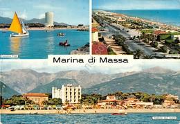 Cartolina Marina Di Massa 3 Vedute 1966 - Massa