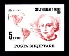 EUROPA - ALBANIE - 1992 - BF N°73 NEUF** LUXE MNH - Christophe Colomb, Découverte De L'Amérique - Europa-CEPT