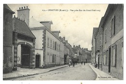 28 CHARTRES RUE DU GRAND FAUBOURG CPA 2 SCANS - Chartres