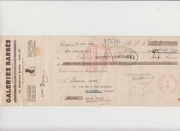 LETTRE DE CHANGE - GALERIES BARBES -  - ANNEE 1936 - Bank & Insurance