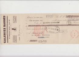 LETTRE DE CHANGE -120 F GALERIES BARBES -  - ANNEE 1936 - Bank & Insurance