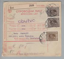 Heimat Slowenien Ziri 1928-10-22 Paketkarte Nach Dreznica - Slovénie