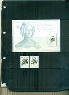 BELGIQUE PROMOTION DE LA PHILATELIE ROSES II 2 VAL + BF NEUFS A PARTIR DE 1 EURO - Roses
