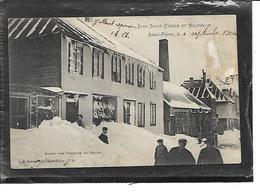 975-SAINT-PIERRE-et-MIQUELON-*SAINT-PIERRE-Une Vue Animée De La Ville Apres Une Tempete De Neige - Saint-Pierre-et-Miquelon