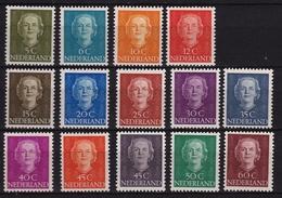 1949-51 Koningin Juliana En Face 14 Waarden Van De Serie Ongestempeld NVPH 518 / 521 - 523 / 532 - 1949-1980 (Juliana)
