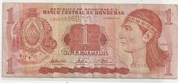 BANCO CENTRAL DE HONDURAS . 1 LEMPIRA . ISSUE 23 DE ENERO DE 2003 . 2 SCANES - Honduras