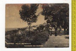 1954 CORTONA Panorama Dai Giardini FG V SEE 2 SCANS ANIMATA Macchie E Difetti - Altre Città
