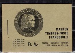 Suisse Carnet Pro-Juventute 1953 YT N° C539b Neuf ** MNH. TB. A Saisir! - Markenheftchen