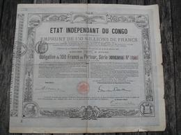 OBLIGATION EMPRUNT 1888 ETAT INDEPENDANT DU CONGO - Afrique