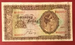 Luxembourg - Billet De Banque - 20 Francs 1943 - Luxembourg