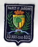 ECUSSON Tissu, Feutrine Brodee, AULNAY SOUS BOIS Parcs Et Jardins - Ecussons Tissu